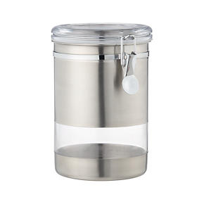 Stainless Steel Large Clip Canister
