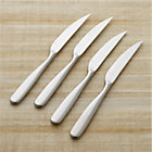 Set of four Stanton Satin steak knives.