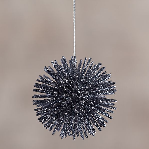 Charcoal Starburst Ornament