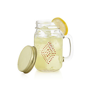 Starburst Glass Mug with Lid
