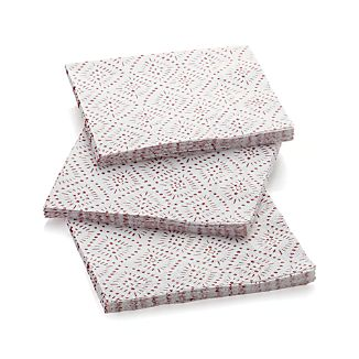 Starburst White Paper Lunch Napkins Set of 20