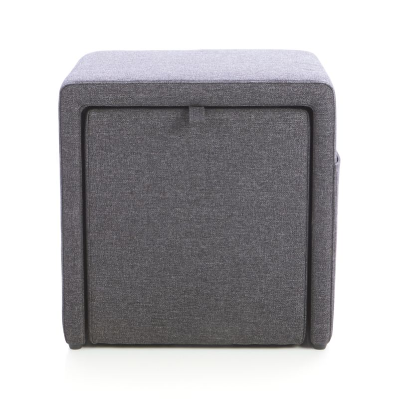 Stash Grey Storage Ottoman