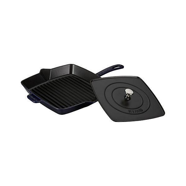 "Staub® Blue 15.8"" Grill Pan-Press"