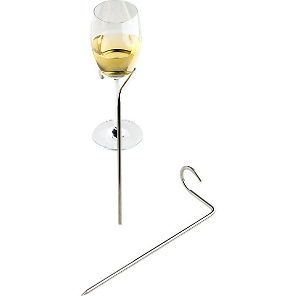 Set of 2 Steady Stick Wine Glass Holders
