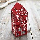 Red Steel Laser Cut House.