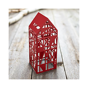 Red Steel Laser Cut House
