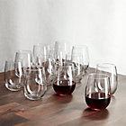 Set of 12 stemless red wine glasses. 17 oz.