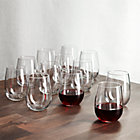 Set of 12 stemless red wine glasses. 17 oz.