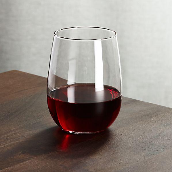 Stemless Red Wine Glass