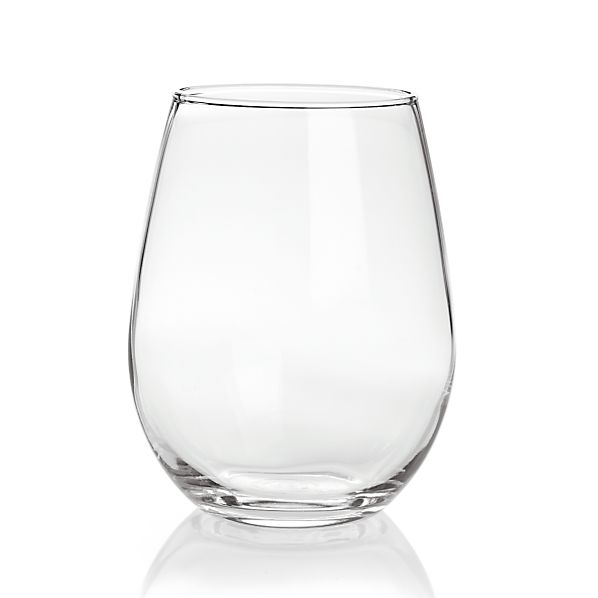 Stemless White Wine Glasses Set of 12