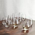 Set of 12 stemless white wine glasses. 11.75 oz.