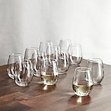 Set of 12 Stemless White Wine Glasses
