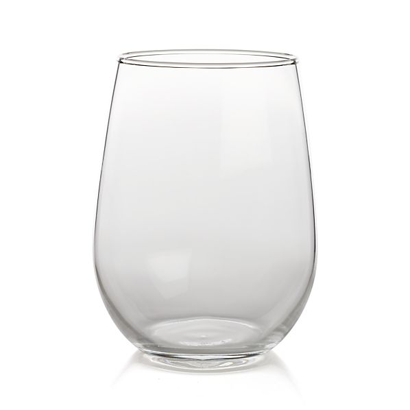 Stemless Red Wine Glasses Set of 12