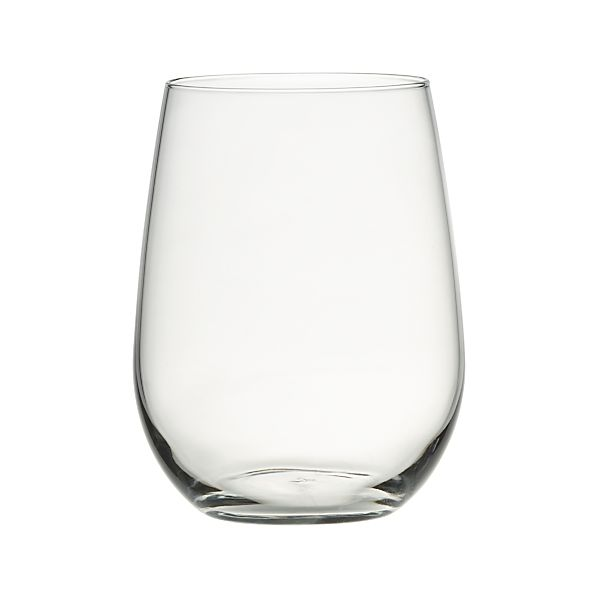 Set of 4 Stemless Red Wine Glasses