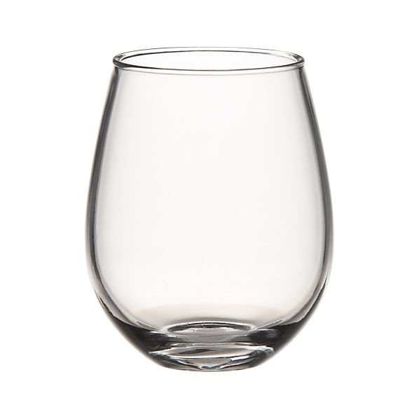 Set of 12 Acrylic Stemless Wine Glasses