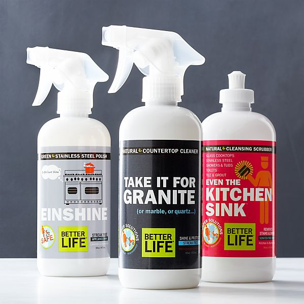 Better Life™ Natural Countertop Cleaner, Stainless Steel Polish, and Kitchen and Bath Scrubber
