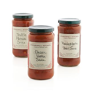 Stonewall Kitchen Vodka, Roasted Garlic Basil and Truffle Marinara Sauces