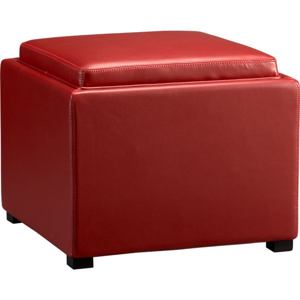 """Stow Red 22"""" Ottoman"""