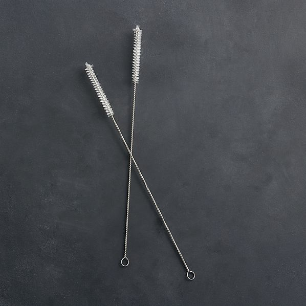 Set of 2 Straw Cleaning Brushes