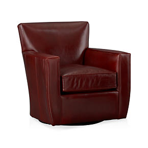 Streeter Leather Swivel Chair