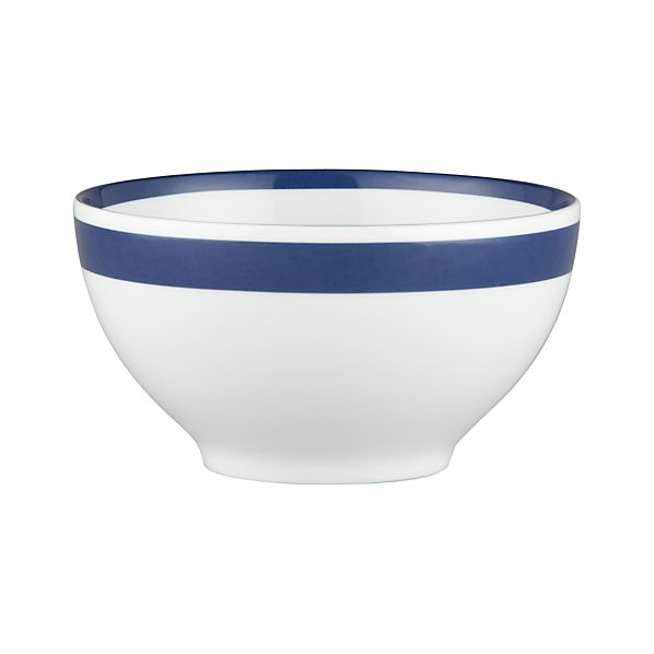 "Navy Stripe 6"" Bowl"