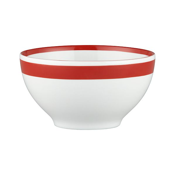 "Red Stripe 6"" Bowl"