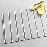 Grey Stripe 54&quot;x20&quot; Floor Mat
