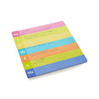 Weekly Stripe Notepad