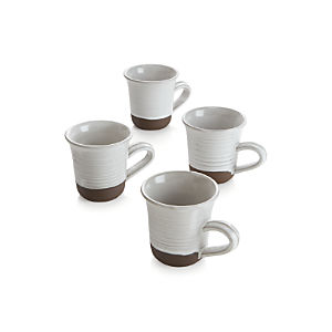 Studio Dark Clay Large Mugs Set of Four