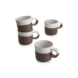 Studio Dark Clay Mugs Set of Four
