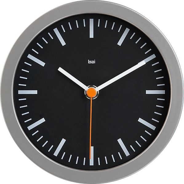 "Studio Black 6"" Wall Clock"