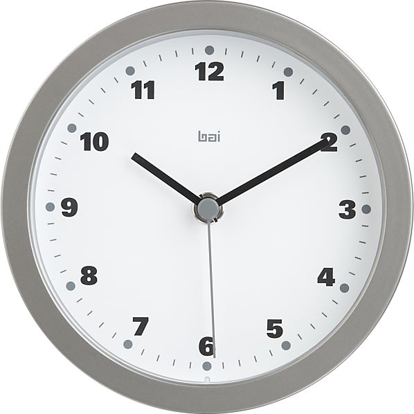 "Studio White 6"" Wall Clock"
