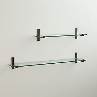 Styles Glass Shelf with Bronze Brackets