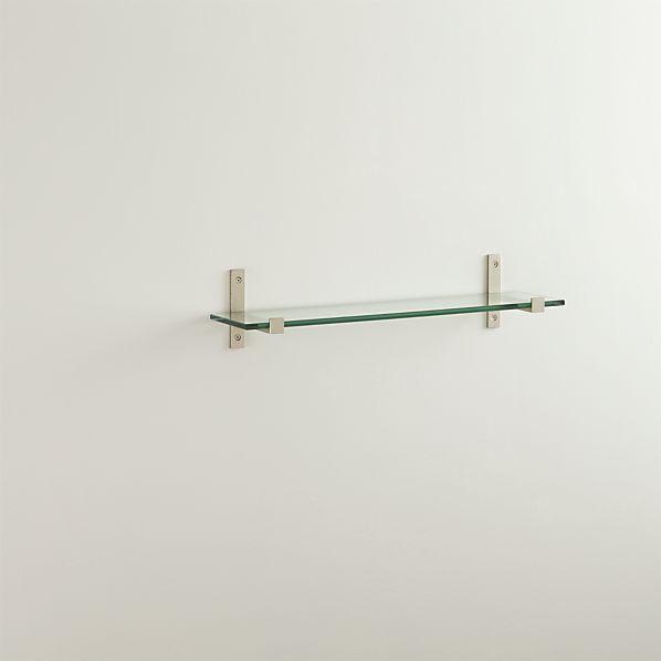 styles 24 glass shelf with brushed silver brackets. Black Bedroom Furniture Sets. Home Design Ideas