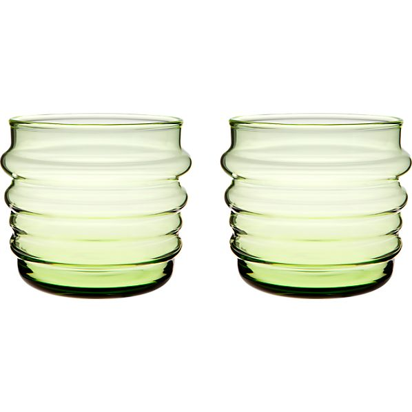 Set of 2 Marimekko Sukat Makkaralla Green Glasses