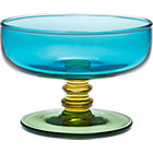 Marimekko Sukat Makkaralla Turquoise Footed Bowl. 4.5&amp;quot;dia.x3&amp;quot;H