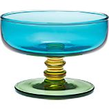 Marimekko Sukat Makkaralla Turquoise Footed Bowl