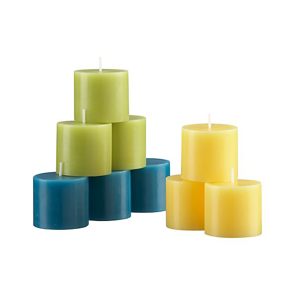 Set of 9 Summer Votive Candles