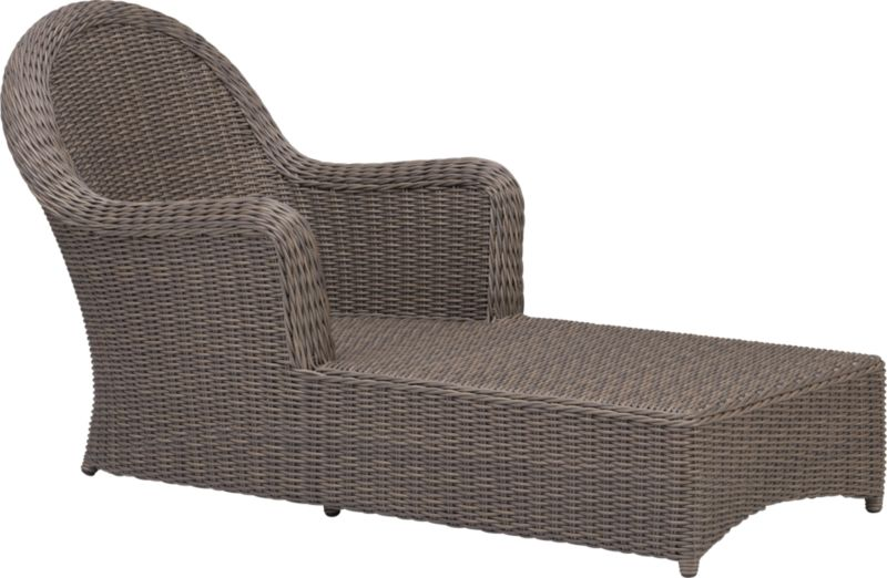 Front porch charm in handwoven all-weather resin with the natural look of wicker. Luxurious chaise is finished a tonal kubu grey that captures the true patina of wicker. Summerlin dining collection also available.<br /><br /><NEWTAG/><ul><li>Resin wicker</li><li>Aluminum frame with powdercoat finish</li><li>Powdercoat finish</li><li>Made in Indonesia</li></ul>