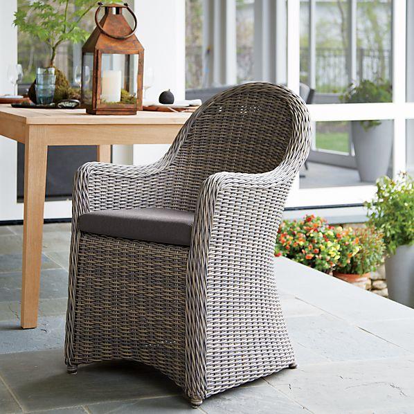 Summerlin Arm Chair with Sunbrella® Charcoal Cushion
