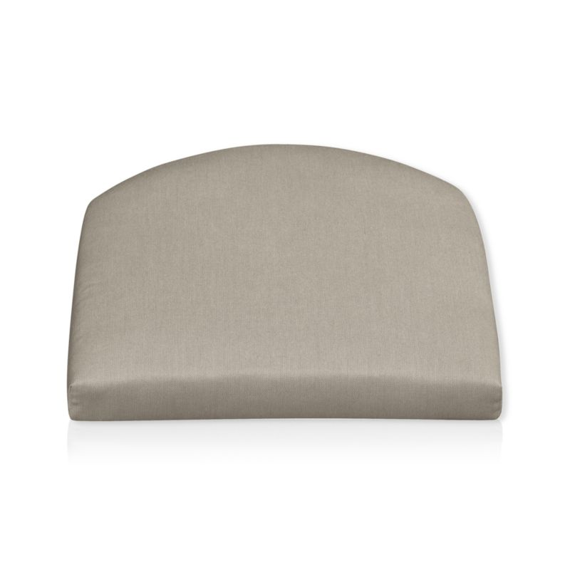 Arm chair cushion is fade- and mildew-resistant Sunbrella acrylic in neutral stone.<br /><br /><NEWTAG/><ul><li>100% solution-dyed acrylic with poly wrapped foam fill</li><li>Spot clean</li><li>Made in USA</li></ul>