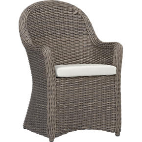 Summerlin Arm Chair with Sunbrella White Sand Cushion