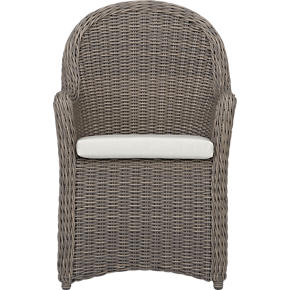 Summerlin Arm Chair with Sunbrella® White Sand Cushion