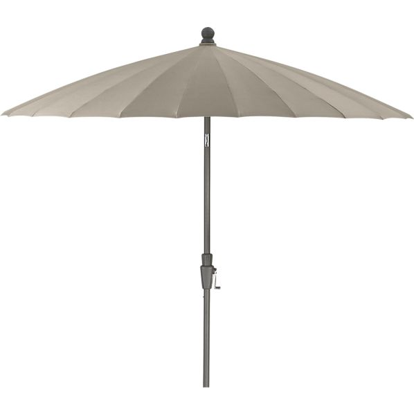 8.3' Round Sunbrella® Stone Garden Umbrella with Frame