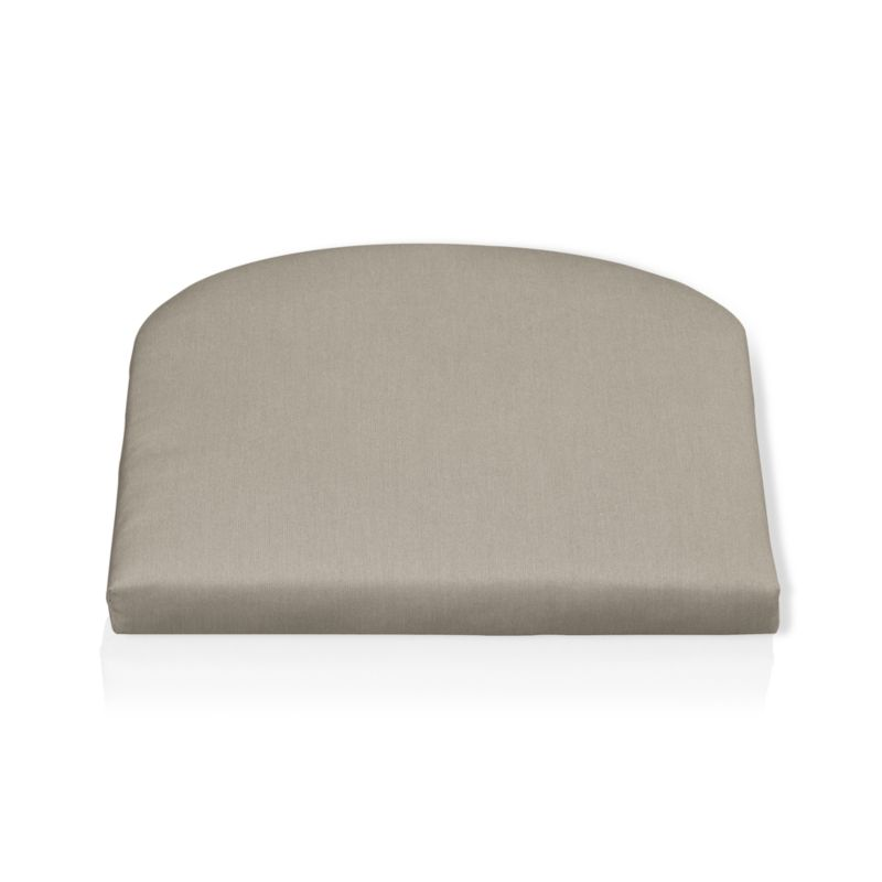 Rocking chair cushion is fade- and mildew-resistant Sunbrella® acrylic in neutral stone.<br /><br />After you place your order, we will send a fabric swatch via next day air for your final approval. We will contact you to verify both your receipt and approval of the fabric swatch before finalizing your order.<br /><br /><NEWTAG/><ul><li>100% solution-dyed acrylic</li><li>Poly wrapped foam fill</li><li>Spot clean</li><li>Made in USA</li></ul><br />