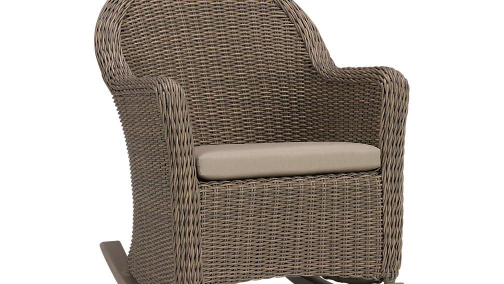 Summerlin Sunbrella ® Rocking Chair Cushion - Stone  Crate and ...