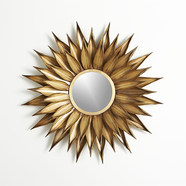 Sunflower Wall Mirror Crate And Barrel