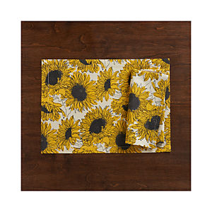 Sunflower Placemat and Napkin