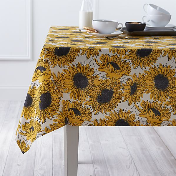 Sunflower 60 Quot X90 Quot Tablecloth Crate And Barrel