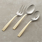 Surat 3-Piece Serving Set: serving fork, serving spoon, pierced serving spoon.